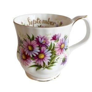 Royal Albert September Michaelmas Daisy Coffee Cup